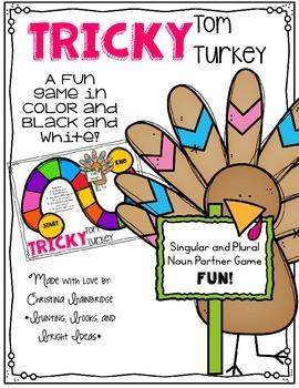 Regular and Irregular Plural Noun Game - Tricky Tom Turkey
