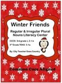 Winter Regular & Irregular Plural Noun Literacy Center- 3rd grade (CCSS aligned)