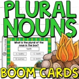 Regular and Irregular Plural Nouns Boom Cards (Digital Task Cards)