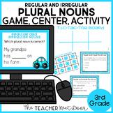 Regular and Irregular Plural Nouns Game | Plural Nouns Center Activity