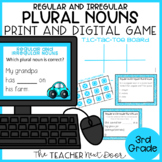 Regular and Irregular Plural Nouns Game Print and Digital