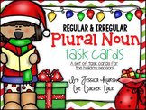 Regular and Irregular Plural Nouns - Holiday Task Cards