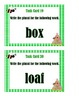 Regular and Irregular Plural Nouns - Task Cards