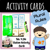 Regular and Irregular Plurals Activity Cards (NEW ELAR TEKS)