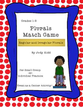 Regular and Irregular Plurals Match Game