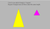 Regular and Irregular Triangle Slide Show