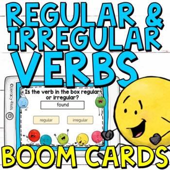 Regular and Irregular Verbs Boom Cards (Digital Task Cards)