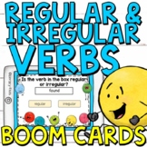 Regular and Irregular Verbs Boom Cards (Digital Task Cards)
