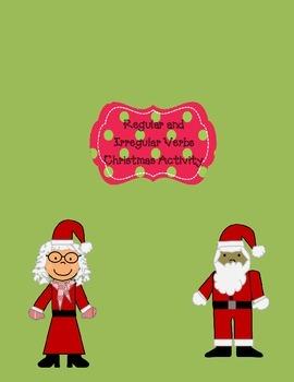 Regular and Irregular Verbs Christmas Activity L.3.1d