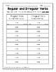 Regular and Irregular Verbs Grammar Center
