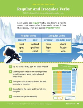 Regular and Irregular Verbs (Take It to Your Seat Centers: Common Core Language)