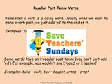 Regular and irregular past tense verbs Explanation and Worksheets