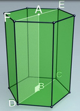 Regular hexagonal prism (3d video model)