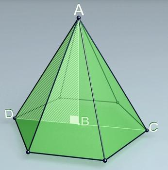 Regular hexagonal pyramid (3d video model)