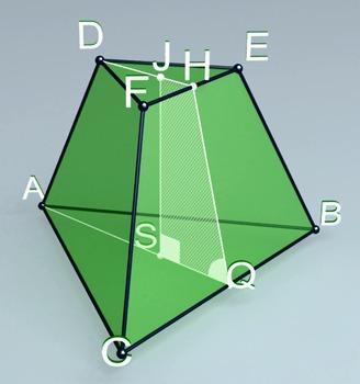 Regular triangular truncated pyramid (3d video model)