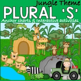 Regular Plurals activities with a jungle theme for speech therapy
