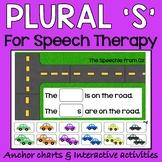 Regular plural nouns speech therapy activities