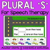 Plural s activities for speech therapy