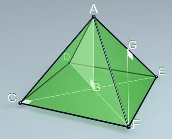 Regular quadrangular pyramid (3d video model)