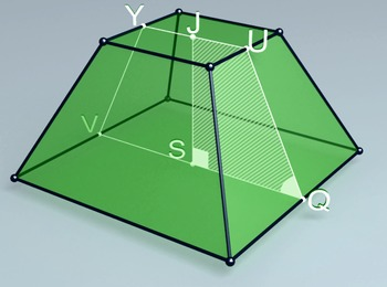 Regular quadrangular truncated pyramid (3d video model)