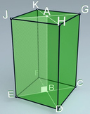 Regular rectangular prism (3d video model)