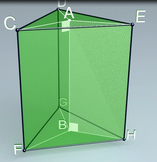 Regular triangular prism (3d video model)