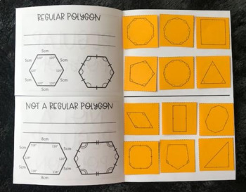 Regular vs. Not Regular Polygons (Foldable)