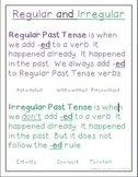 Regular/Irregular Past Tense Anchor Chart