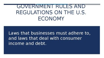 Regulations on U.S. Enterprise system