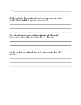 Rehearsal Observation Form (For students unable to participate)