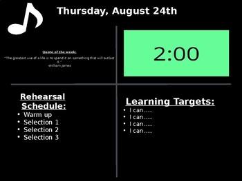 Rehearsal Plan Slide