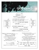 Reik, Zion & Lennox - 'Qué Gano Olvidándote' Cloze Song Sheet