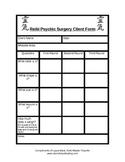 Reiki Psychic Surgery Client Form
