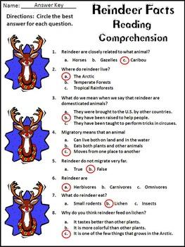 Reindeer Activities: Reindeer Facts Christmas Reading & Science Activity