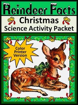 Reindeer Activities: Reindeer Facts Christmas Reading & Sc