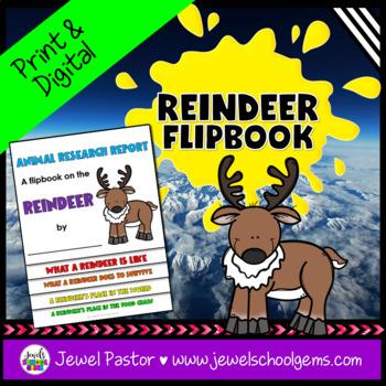 Winter Science Activities (Reindeer Research Flipbook)