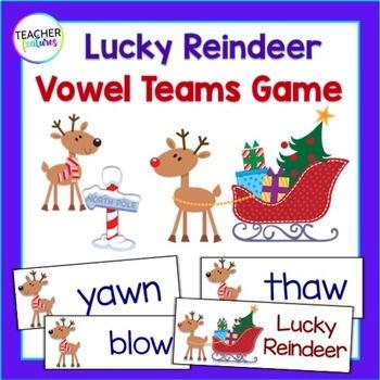 Reindeer Games: Vowel Teams Game