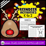 Christmas Worksheets (Reindeer Activities for Kindergarten, 1st and 2nd Grade)