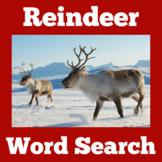 Reindeer Activity | Reindeer Word Search | Reindeer Worksheet