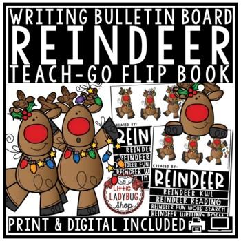 Reindeer Writing Flip Book