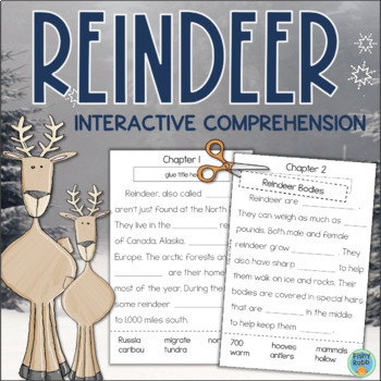 REINDEER Interactive Reading Comprehension Activity Book