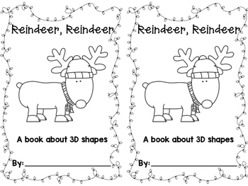 Reindeer 3D Shapes Book