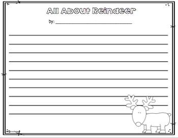 Reindeer A Non-Fiction Mini Unit