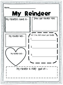 Reindeer {A holiday writing craftivity}