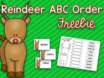 Reindeer ABC Order {Freebie}