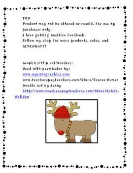 Reindeer ABC Order Game and Printable