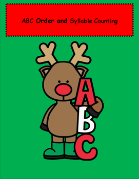 Reindeer ABC Order and Syllable Count
