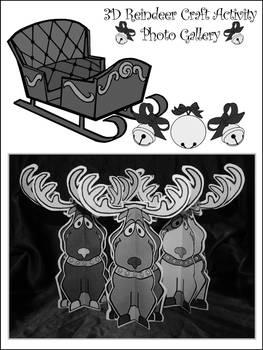 Reindeer Activities: 3D Christmas Reindeer Craft Activity