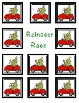 Reindeer Addition Race