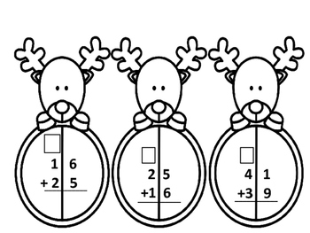 Reindeer Addition With Regrouping